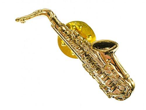 Miniblings Sassofono Spilla Badge Pin Sassofono Sax Orchestra Jazz Oro Mini