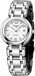 Longines Prima Luna 白色表盤不銹鋼女士手表 L81114166