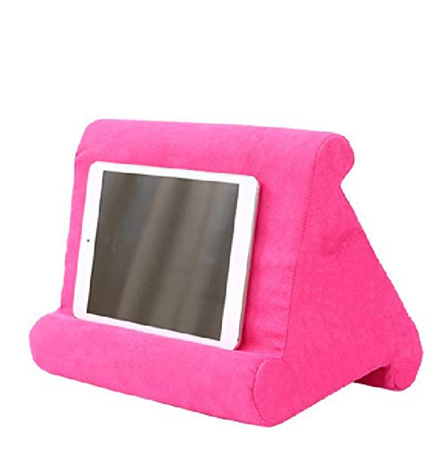 XINYA BAO Tablet Holder Laptop Cushion Tablet Cushion Multi-Angle Knee Stand with Soft Cushion for iPad, Tablet, E-Book Reader, Smartphone, Books and Magazines, 8 Colours Rose-red