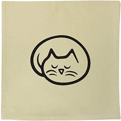 Azeeda 40cm x 40cm 'Sleeping Cat' Canvas Cushion Cover (CV00018037)