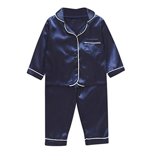 Great Features Of Fashion Pajamas Outfit Set Baby Boy Girls Long Sleeve Button-Down Shirts +Pant Sle...