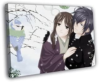 H5V6063 Hakuouki Shinsengumi Kitan Saito Hajime Chizuru Yukimura Anime Manga Art 50x40 FRAMED CANVAS PRINT