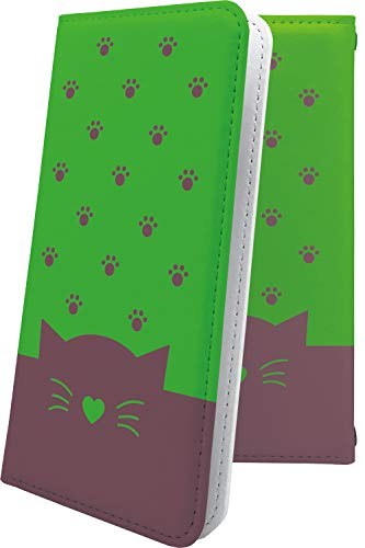 スマートフォンケース・ZenFone5Q ZC600KL・互換 ケース 手帳型 猫耳 ねこみみ ねこ 猫 猫柄 にゃー ゼンフォン5q ゼンフォン5 手帳型スマートフォンケース・キャラクター キャラ キャラスマートフォンケース・zenfone 5q 5 q ハート love kiss キス 唇 [NfM25159Tya]
