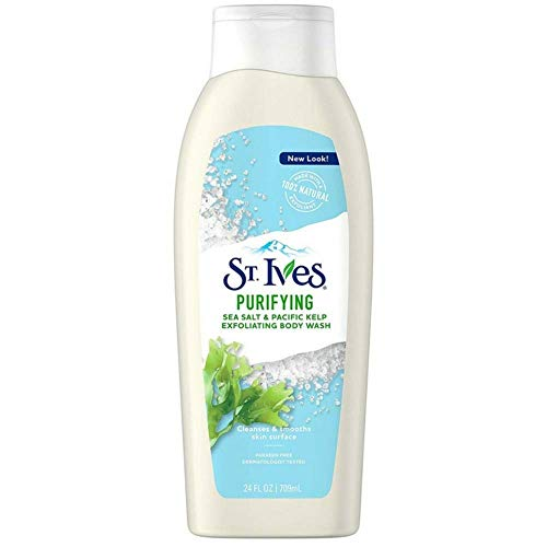 St. Ives Purifying Sea Salt & Pacific Kelp Exfoliating Body Wash 24 oz (Pack of 3)