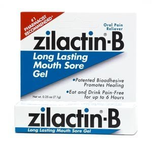 Zilactin-b Oral Pain Reliever Mouth Sore Gel, - 0.25 Oz, 4 Pack by Zilactin B