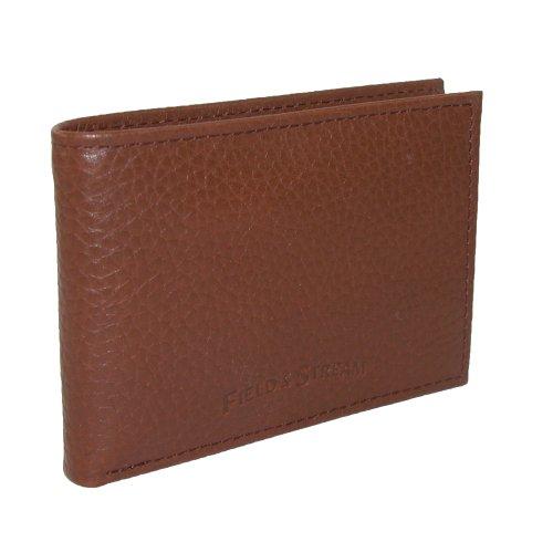Field & Stream Herren-Geldbörse aus Leder, RFID, Kieselstein-Prägung, dünne Vordertasche, Hellbraun