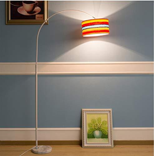 Vissen lamp vloerlamp, led afstandsbediening creatieve eenvoudige woonkamer studie slaapkamer nachtkastje oogbescherming verticale tafellamp- regenboog ‖7w afstandsbediening lamp