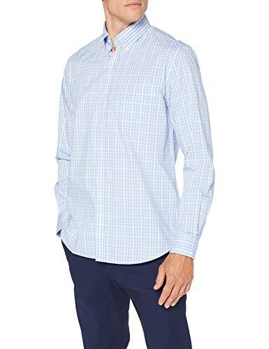 Cortefiel C7Bck Coolmax Fancyvichy Camisa Casual, Azul (Azul Medio 12), X-Large (Tamaño del Fabricante: XL) para Hombre