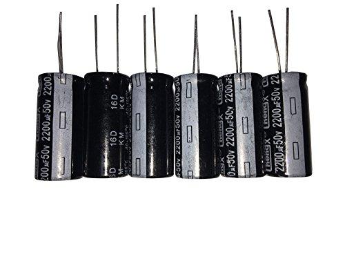 capacitors LATTECH 2200uF 50V 16X30 +/-20% -40-+105℃ 6 PCS Aluminum Electrolytic Capacitors