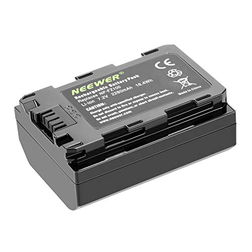 Neewer-Ersatzakku für Sony NP-FZ100, kompatibel mit Sony A9 A7III A7RIII-Kameras und VG-C3EM-Griff, 7,2v 2280mAh 16,4Wh (nur Akku)