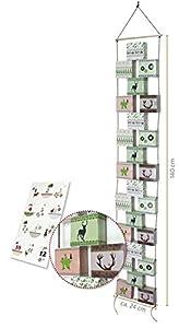 Adventskette zum Befüllen, 24 Boxen mit Kordel, Zahlenetiketten und Bastelanleitung Boxen (9x8x4 cm) Gesamtlänge ca. 1,40 m