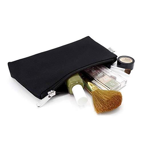 BiMAX Schminktasche - praktischer Make-up Beutel - Kulturbeutel mit hochwertigem Design (S, Schwarz)