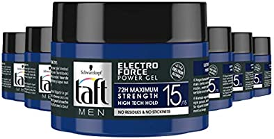Schwarzkopf Taft Electro Force Level 15 Power Gel Pot 250ml , 6 stuks