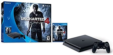 PlayStation 4 Slim 500GB Console - Uncharted 4 Bundle [Discontinued] (Renewed)
