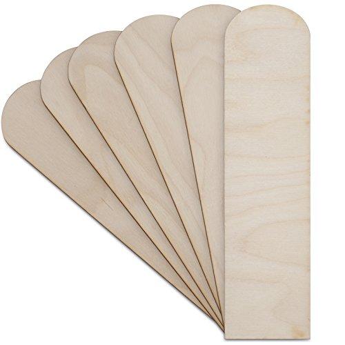 Creative Deco 10 x Marcapáginas Formas Madera Orginales | 20 x 5-6 cm | Contrachapado sin Pintar | Marcadores Etiquetas Decoupage, Decorar, Pintar y Manualidades