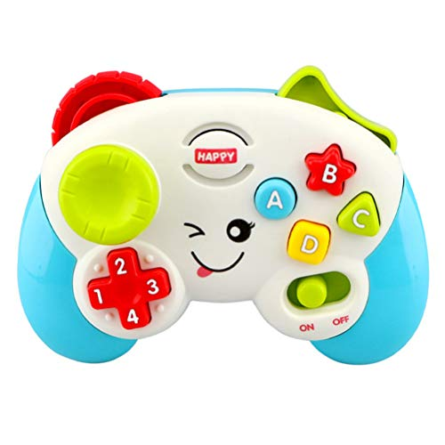 Halsey99 Multifunktionale Baby-Spielen und Lernen-Controller mit Songs und Sounds Baby-Elektro-Play-Handle Spielzeug spielt Klavier