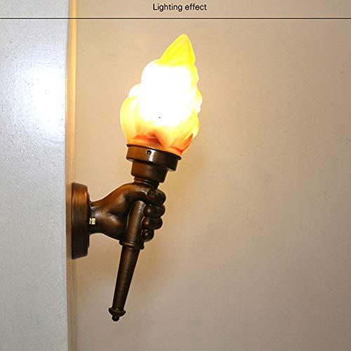 Viraaty LED fer forgé décoration hôtel E27 lustre créatif rétro torche lumière vent industriel lampe de mur intérieur économie d'énergie enfants lit lampe escalier barre de lumière lumière salon lampe