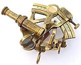 Antique Warehouse Instrumentos náuticos sextantes de latón Macizo, Hechos a Mano, Marina, Instrumentos náuticos sextantes, Acabado Antiguo, 3' Inch
