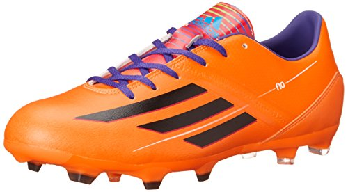 adidas Performance Men's F10 TRX Firm-Ground Soccer Cleat, Solar Zest/Black/Blast Purple, 12 M US