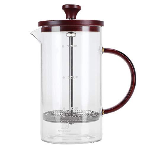 Yosoo123 Cafetera de 800 ml, cafetera, Tetera, Tetera, Vidrio de borosilicato, Recipiente para té y café para Uso doméstico