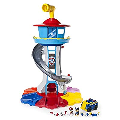 Paw Patrol - My Size Lookout Tower with Exclusive Vehicle, Rotating Periscope and Lights and Sounds from Spin Master