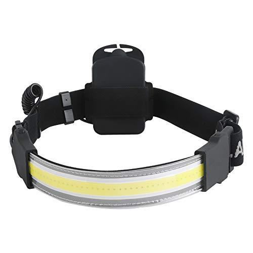 LUXJUMPER COB Stirnlampe, 1000 Lumen LED COB Scheinwerfer Wasserdicht 3 Modi Mini LED Strip Stirnlampe für Camping im Freien, Autoreparatur