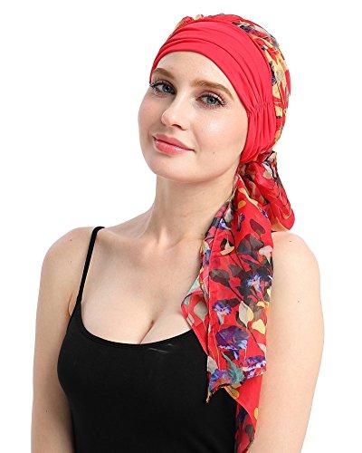 FocusCare Sombrero de bambú Tejidos de cáncer Las Mujeres Bricolaje fácil Atar quimio Bandana