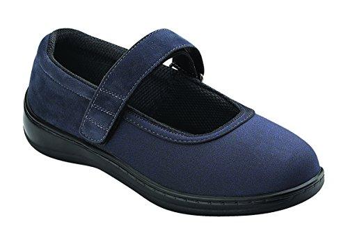 Orthofeet Women's 827 Mary Jane Shoes Navy