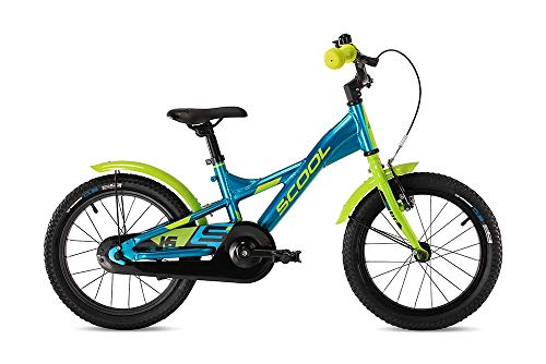"S\'Cool XXlite Alloy 16R 1S Kinder Mountain Bike 2020 (16"", Blau/Grün)"