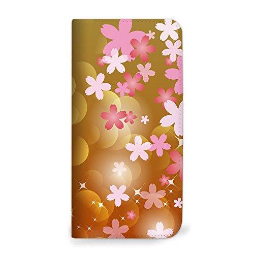 mitas Xperia XZ1 Compact SO-02K ケース 手帳型 ベルトなし 桜 さくら イエロー (357) NB-0181-YE/SO-02K