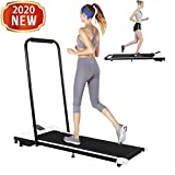 FASESH Folding Treadmill Under-Desk - Foldable Electric Shock-Absorbing Treadmill w/Remote Control & LED Display for Home Gym, Office, Apartment - Installation-Free Portable Walking/Running Trainer