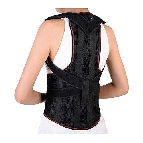 Wenore Corrector de postura para la espalda para mujer, soporte de la columna vertebral, corrector de espalda para la parte superior de la espalda, corrector de espalda para la parte superior de la espalda, color negro, Large