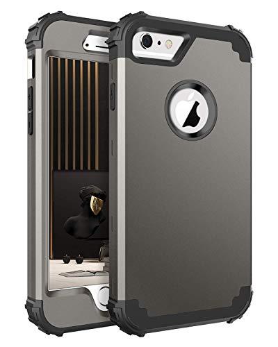 BENTOBEN iPhone 6S案例,iPhone 6套,3合1个重型坚固的混合硬盘PC套柔软的硅胶保险杠防震防滑,耐冲击的保护套为iPhone 6 / 6S(4.7英寸),青铜色
