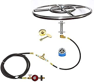 EasyFirePits Complete LP Deluxe Fire Pit Kit & Lifetime Warranted 316 Stainless Steel Burner Choice (18.00, 18 Inch Double Ring)