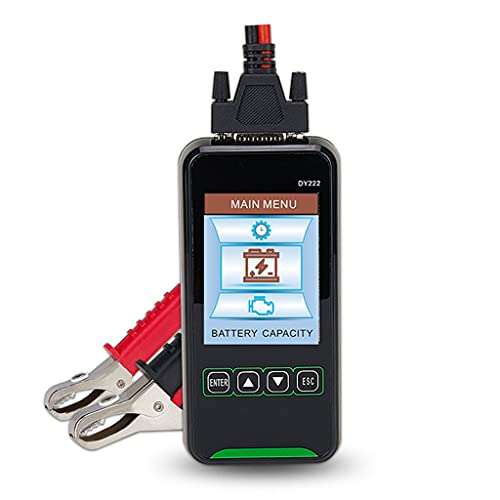 UOEIDOSB Tester della Batteria per Auto DY222 12V 24V Digital Automotive Diagnostic Battery Tester Analyzer 2000CCA Avvolgimento di Caricamento