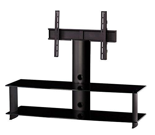 Sonorous PL-2000 NN TV-kast met 2 planken zwart glas/zwarte behuizing breedte: 140 cm.