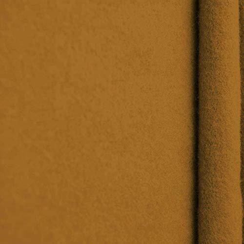 www.aktivstoffe.de Gaby - Kaschmir Wolle Mantel Wollstoff Meterware 20 Farben (Curcuma)