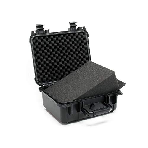 Universalkoffer 27x24,6x12,4cm schwarz, mit Druckausgleichsventil & anpassbaren Schaumstoffmatten