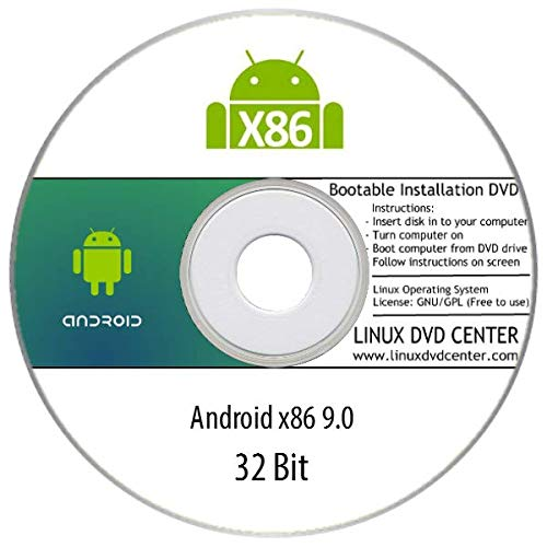 Android x86 9.0 for PCs & Laptops (32Bit) - Bootable Linux Installation DVD