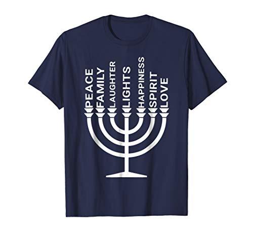 Hanukkah Menorah Lights Family Love Novelty T Shirt