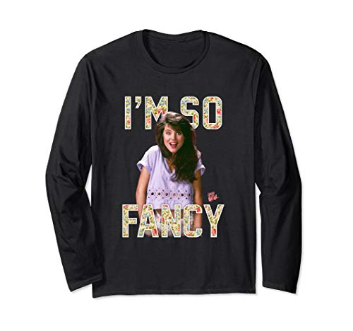 Saved By The Bell I'm So Fancy Kelly Kapowski Long Sleeve T-Shirt, Unisex, 4 Colors