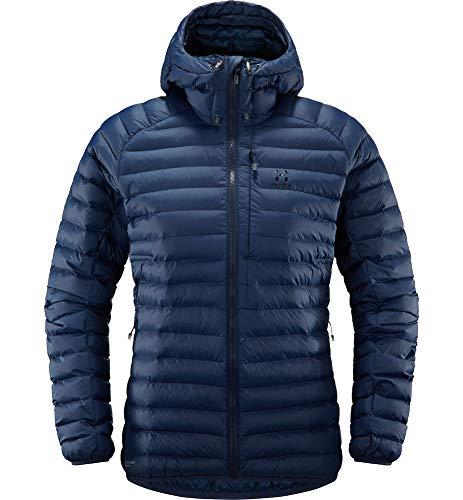 Haglöfs Winterjacke Frauen Winterjacke Essens Mimic Hood Women Insulating, atmungsaktiv, wasserabweisend Extra Small Tarn Blue XS XS