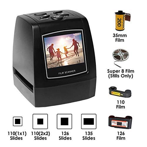 El escáner Negativo de película Convierte Diapositivas y Negativos de 35 mm / 135 mm en Formato Digital JPEG Película de Visor de Diapositivas de Alta resolución