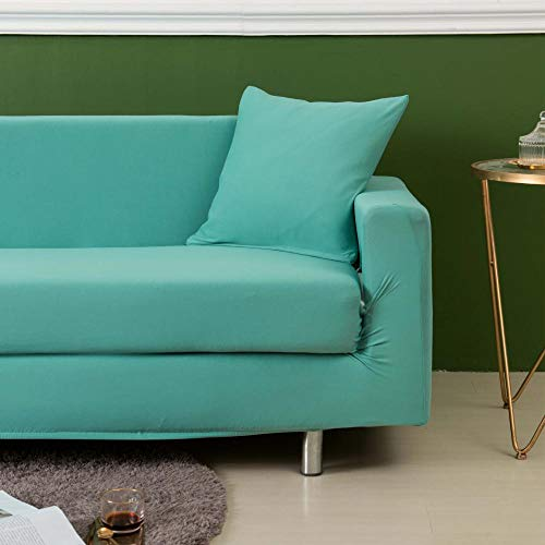 Topashe Funda sofá Duplex,Funda de sofá Universal, Funda de sofá elástica-Verde B_90-140cm,elástico Tejido Protector por sofá Funda