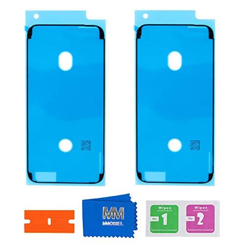 MMOBIEL 2X wasserdichte Folie Klebefolie LCD Display Adhesive Sticker Kompatibel mit iPhone 6 / 6S 4.7inch (Schwarz)