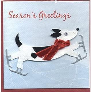 MeriMeri クリスマス グリーティングカード skating dog