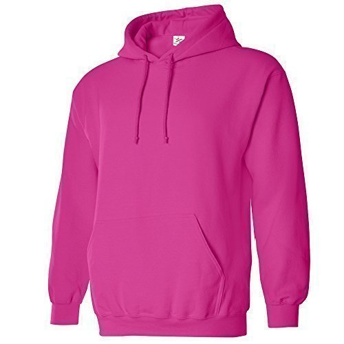 Small HOT Pink Classic Plain Pullover Hoodie Unsex and These are Ideal for Mens and Ladies Hooded Sweatshirt