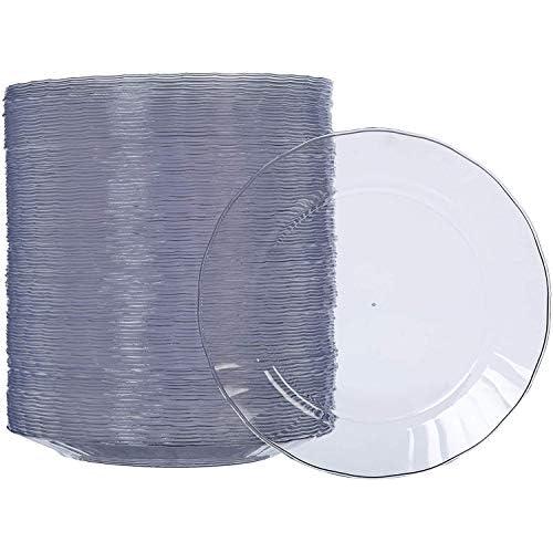 AmazonBasics - Piatti di plastica, monouso - Confezione da 100 pezzi, 19 cm