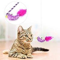 猫遊びおもちゃ、インタラクティブおもちゃ、猫チェイサーおもちゃ、子猫のための柔らかく耐久性のある安全な面白い猫カフェ猫ペット(purple)