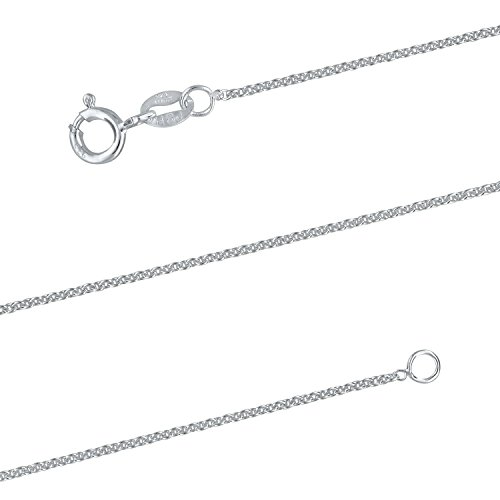 Sterling Silver 1.3mm Cable Chain Necklace Solid Italian Nickel-Free, 19 Inch